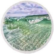 Gulf Waves Round Beach Towel