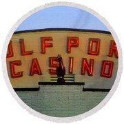 Gulfport Casino Round Beach Towel