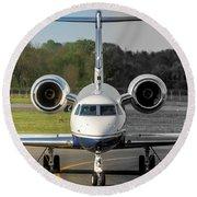 Gulfstream Aerospace G500 I-delo Frontal.nef Round Beach Towel