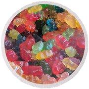 Gummy Bears Round Beach Towel