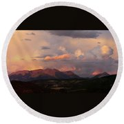 Gunnison Sunset Round Beach Towel