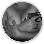 Guns And Ammo Round Beach Towel