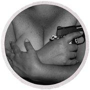 Guns And Ammo Round Beach Towel