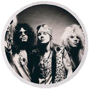 Guns N' Roses - Band Portrait Round Beach Towel