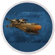 Gunship Round Beach Towel