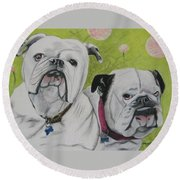 Gus And Olive Round Beach Towel