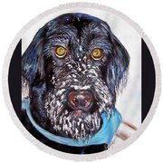 Gus Round Beach Towel