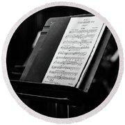 Gustav Mahler Symphony No 1 Round Beach Towel