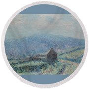 Gustave Loiseau 1865 - 1935 Jelly White Huelgoat, Finistere Round Beach Towel
