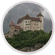 Gutenberg Castle Round Beach Towel by Yair Karelic