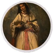 Gypsy Girl With Mandolin by Corot Camille