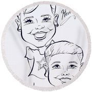 H A Round Beach Towel