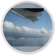 H144 And Clouds Round Beach Towel
