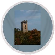 Ha Ha Tonka Water Tower Round Beach Towel