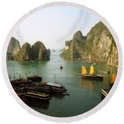 Ha Long Bay Round Beach Towel