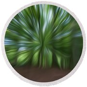 Haagse Bos. Oil Painting Effect. Round Beach Towel
