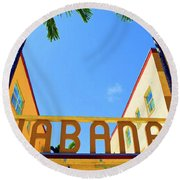 Habana Condos Round Beach Towel
