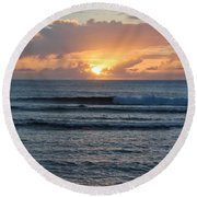Hagatna Bay Sunset Round Beach Towel
