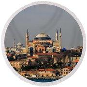 Hagia Sophia - Istanbul Turkey Round Beach Towel