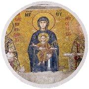 Hagia Sophia Mosaic Round Beach Towel