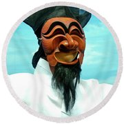 Hahoe Mask Round Beach Towel