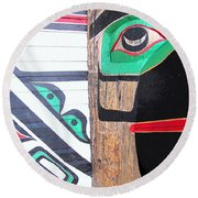 Haida One Round Beach Towel