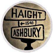 Haight Ashbury Round Beach Towel