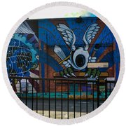 Haight Ashbury Mural Round Beach Towel