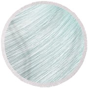 Hair Blowing Closeup Round Beach Towel