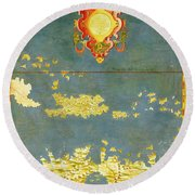 Haiti, Dominican Republic, Puerto Rico And French West Indies Round Beach Towel