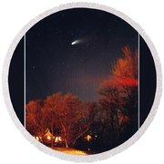 Hale-bopp Comet Round Beach Towel