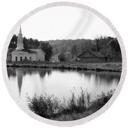 Hale Farm Round Beach Towel