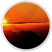 Maui Hawaii Haleakala National Park Sunrise IIi Round Beach Towel