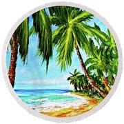 Haleiwa Beach #369 Round Beach Towel