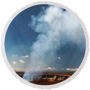 Halemaumau Crater 2016 Round Beach Towel