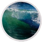 Half Cresting Wave Round Beach Towel