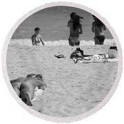 Half Dead Half Alive Round Beach Towel