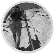 Half Dome Cables Round Beach Towel