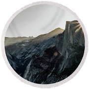 Half Dome From Glacier Point Round Beach Towel