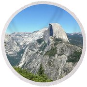 Half Dome From Inspiration Point Round Beach Towel