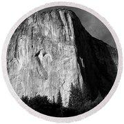 El Capitan - Yosemite, Ca Round Beach Towel