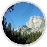 Half Dome Village Round Beach Towel