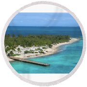 Half Moon Cay Round Beach Towel