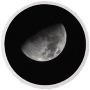 Half Moon In The Distance Round Beach Towel