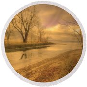 Half Reflections Round Beach Towel