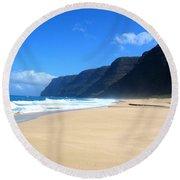 Hali Pale Beach  Kauai  Hawaii Round Beach Towel