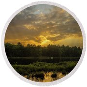 Haliburton Sunrise Round Beach Towel