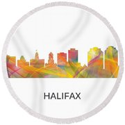 Halifax N.s.skyline Round Beach Towel
