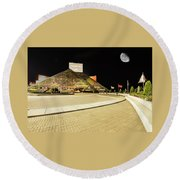 Hall Of Fame At Night Round Beach Towel