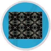 Hall Of Mirrors In Abstract Round Beach Towel